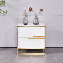 Light luxury bedside table American fashion corner several sofa side cabinet