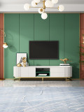 Light luxury wind modern retractable tea table tempered glass TV cabinet combination simple