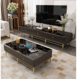 new living room marble light luxury TV cabinet tea table combination