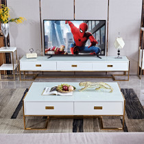 Post modern light luxury tea table TV cabinet combination