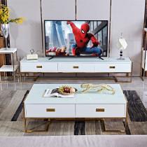 Post modern light luxury tea table TV cabinet combination