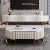 Post modern simple light luxury TV cabinet tea table combination