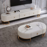 TV Cabinet Tea Table Combination Set Modern Simple Nordic Living Room Simple Small-Sized TV Cabinet