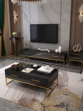 New design luxury living room furniture round shape modern TV cabinet and coffee table with drawers in stock