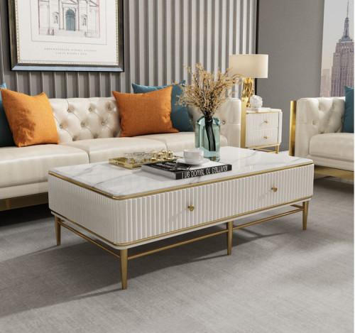Light luxury tea table TV cabinet combination post modern simplicity
