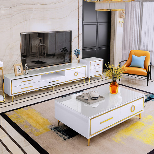 Light luxury post modern simple tea table TV cabinet combination