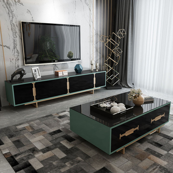 Light luxury post modern TV cabinet tea table combination simple and modern