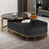 Nordic modern light luxury tea table beside table combination marble topcoffee table simple TV cabinet