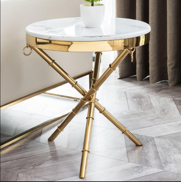 Post modern light luxury marble round edge several sofa corner