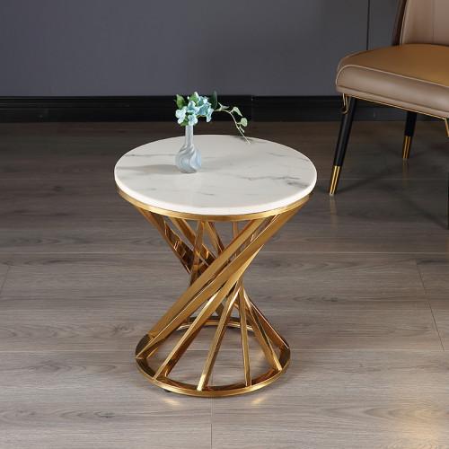Light luxury post modern simple marble living room sofa edge a few corner