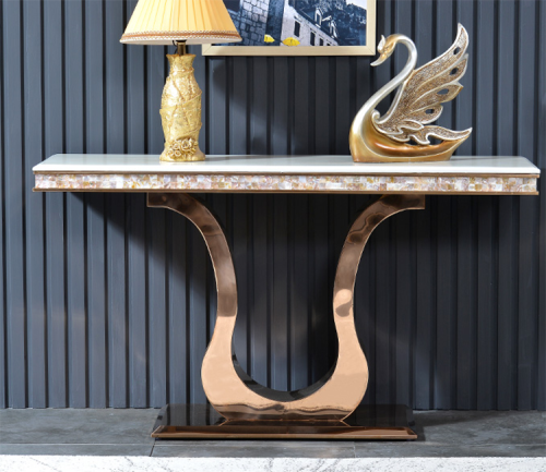 Post modern hallway table against wall light luxury porch desk modern simple porch cabinet