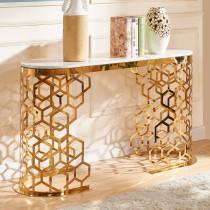 European light luxury porch cabinet marble porch platform simple modern stainless steel decorative end view platform