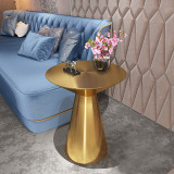 Hot sale new design gold side table modern golden stainless steel round side table