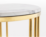 Nordic sofa side table living room furniture bed gold metal modern side table