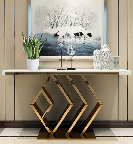Light luxury hallway cabinet entry table modern simple long case shelf marble porch desk