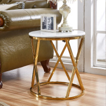 Stainless steel corner table modern simple side several creative living room round gold plated tea table