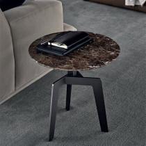 Italian minimalist marble round tea table side table