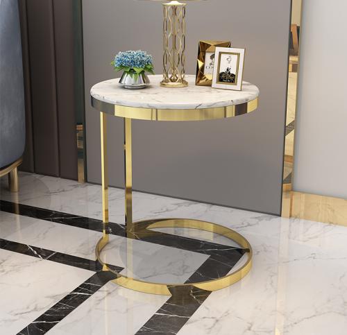 Light luxury marble sofa corner