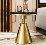 Hotel Living Room Furniture Gold Stainless Steel Frame Round Wire Side Table End Table