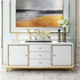 luxury wooden cabinet stainless steel TV stand modern living room side board cabinet home upholstery cabinet