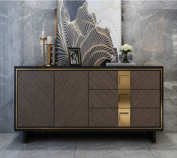 American style light luxury dining cabinet country garden model room furniture post modern simple style storage storage cabinet