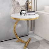 Modern side tables for living room furniture marble top gold base end tables small coffee table tea stand