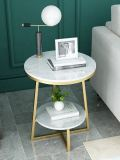 China Manufacturer High Quality modern marble top round coffee table side table set