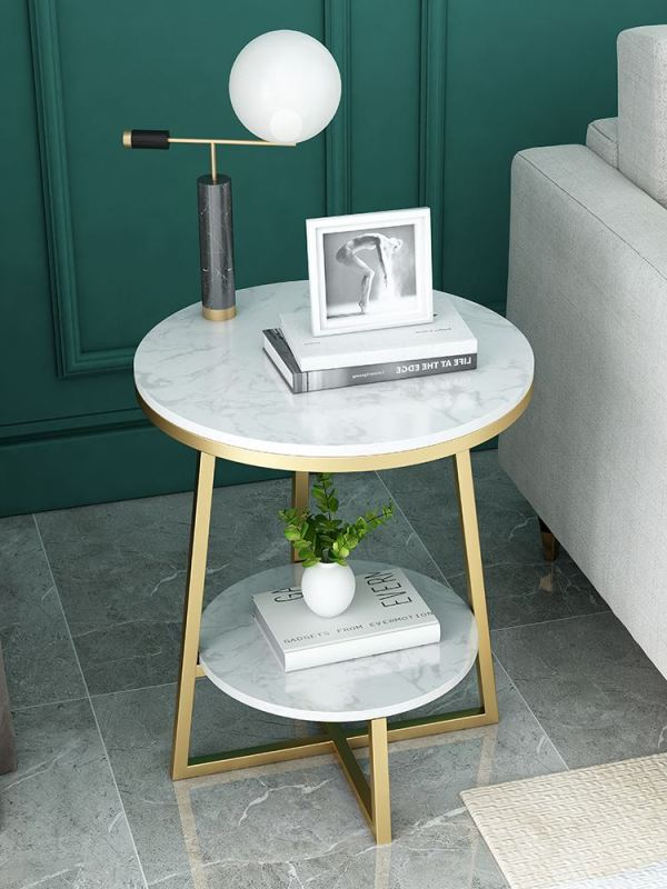Nordic sofa corner several light luxury living room side cabinet marble modern simple bedside table tea table round table
