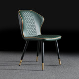 Nordic Modern Luxury Design Fabric Furniture Dining Chair With Arms Rest For Kitchen Dinning Room