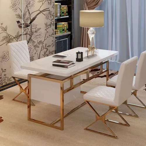Hong Kong style luxury desk and chair home post modern stainless steel computer desk desk desk desk desk