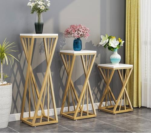 Flower stand floor stand light luxury flower stand flower pot stand single floor type