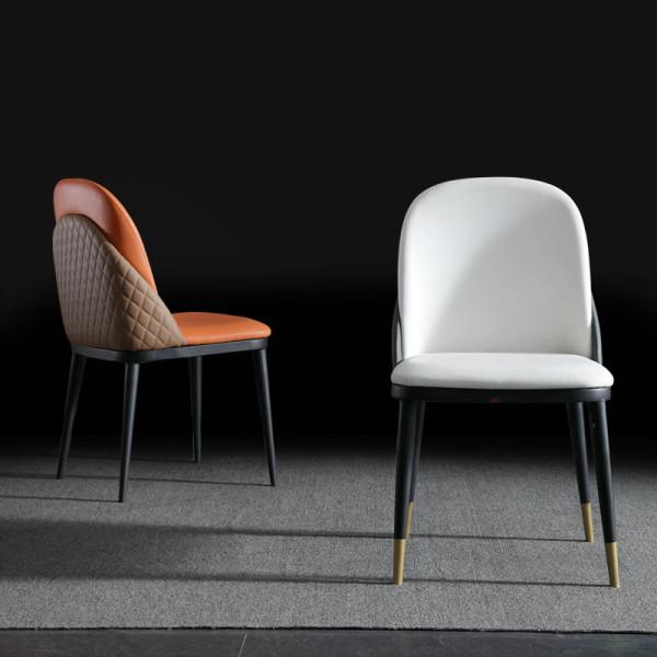 Italian light luxury family dining table chair modern simple negotiation chair designer wanghong leisure restaurant back chair