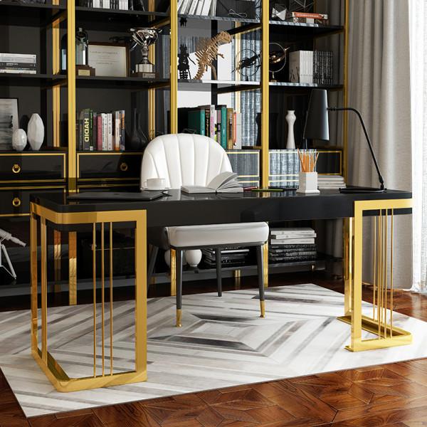 Nordic Light luxury iron computer desk post modern lacquer painting boss desk home bedroom desk simple desk