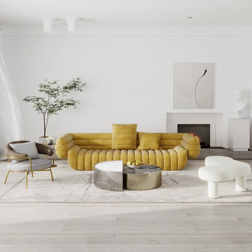 Italian style simple cloth sofa Nordic modern style creative living room four people