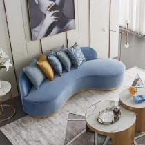 Curved fabric sofa Nordic luxury hotel multi person profiled sofa