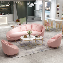 Nordic sofa simple arc creative club reception living room sofa