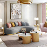 living room modern luxury furniture soft padded sofa Italian sofa set chesterfield 321 seater fabric sofa