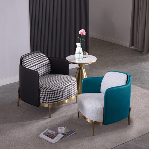 Modern living room furniture French luxury comfortable leisure chair hotel furniture