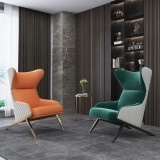 Artistically designed A high-back metal+chairs hotel+chairs leisure chair