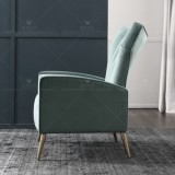 Nordic light luxury Sitting room high-backed leisure chair bedroom tiger chair negotiation chair