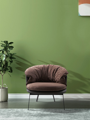 Modern Living Room Furniture Fabric Armchair Orange Green Pleated Tufted Leisure Chair