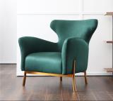 Nordic light luxury beauty salon single sofa modern model room living room single chair designer leisure office single chair