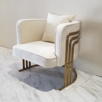 Custom Nordic single sofa chair light luxury modern simple small bedroom lazy man fabric creative designer leisure chair