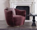 Italian light luxury sofa chair living room single sofa cloth art leisure chair armchairs contracted postmodern negotiation chair