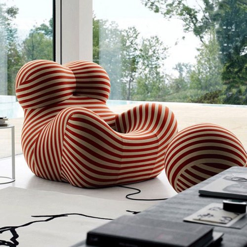 Degas light luxury single sofa chair designer leisure chair ins creative lazy reclining chair net red Hydrangea chair