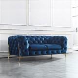 Nordic light luxury sofa combination postmodern pull-button velvet web celebrity sofa size family living room metal furniture