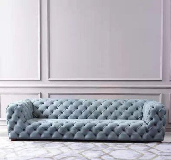 Customized Italian light luxury sofa Italian matte leather pull button leather full leather Jane European Nordic modern designer furniture