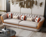 Microfiber leather Modern light luxury sofa combination living room 123 small Italian leather Hong Kong-style INS simple furniture