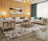 Light luxury leather sofa Microfiber leather French Italian minimalist small house furniture postmodern leather sofa simple living room