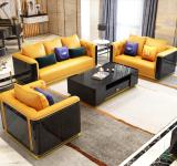 Microfiber leather Hermes Orange Sofa Light Luxury Modern Villa Creative Living Room Model Room Furniture Combination